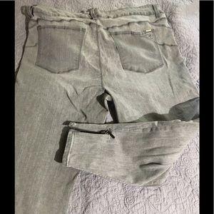 Melissa McCarthy Pencil Gray Jeans